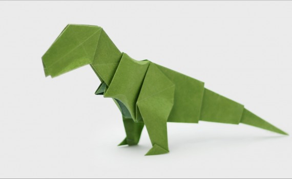 Origami T-Rex Designed by Jo Nakashima
