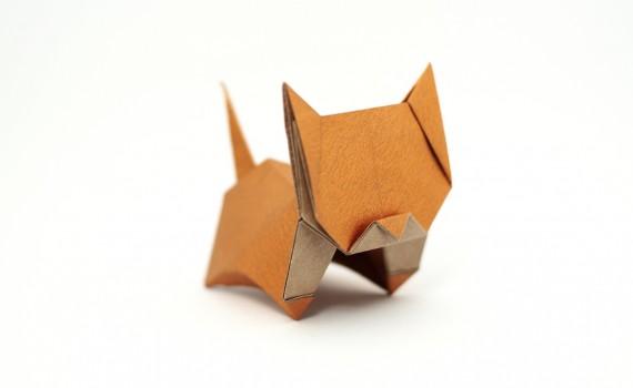 Origami Neko designed by Jo Nakashima