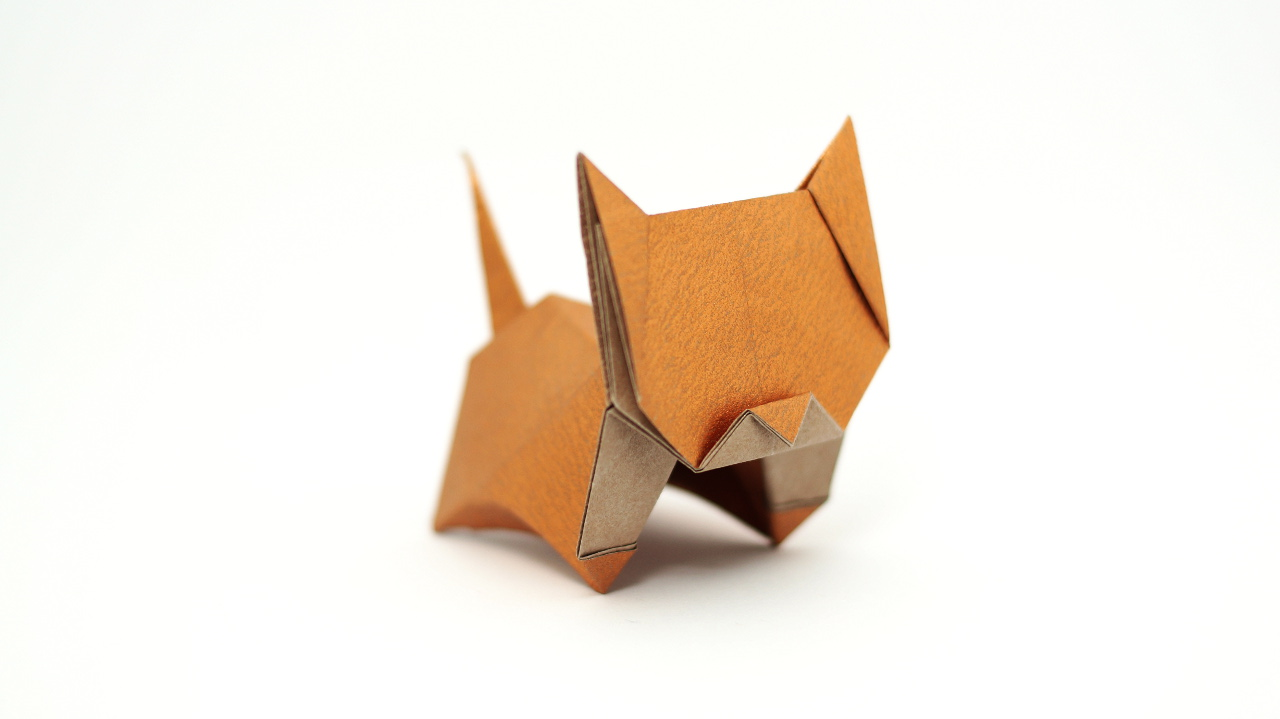 origami neko cat diagrams and video jo nakashima rh jonakashima com br origami siamese cat diagram origami cat david brill diagram