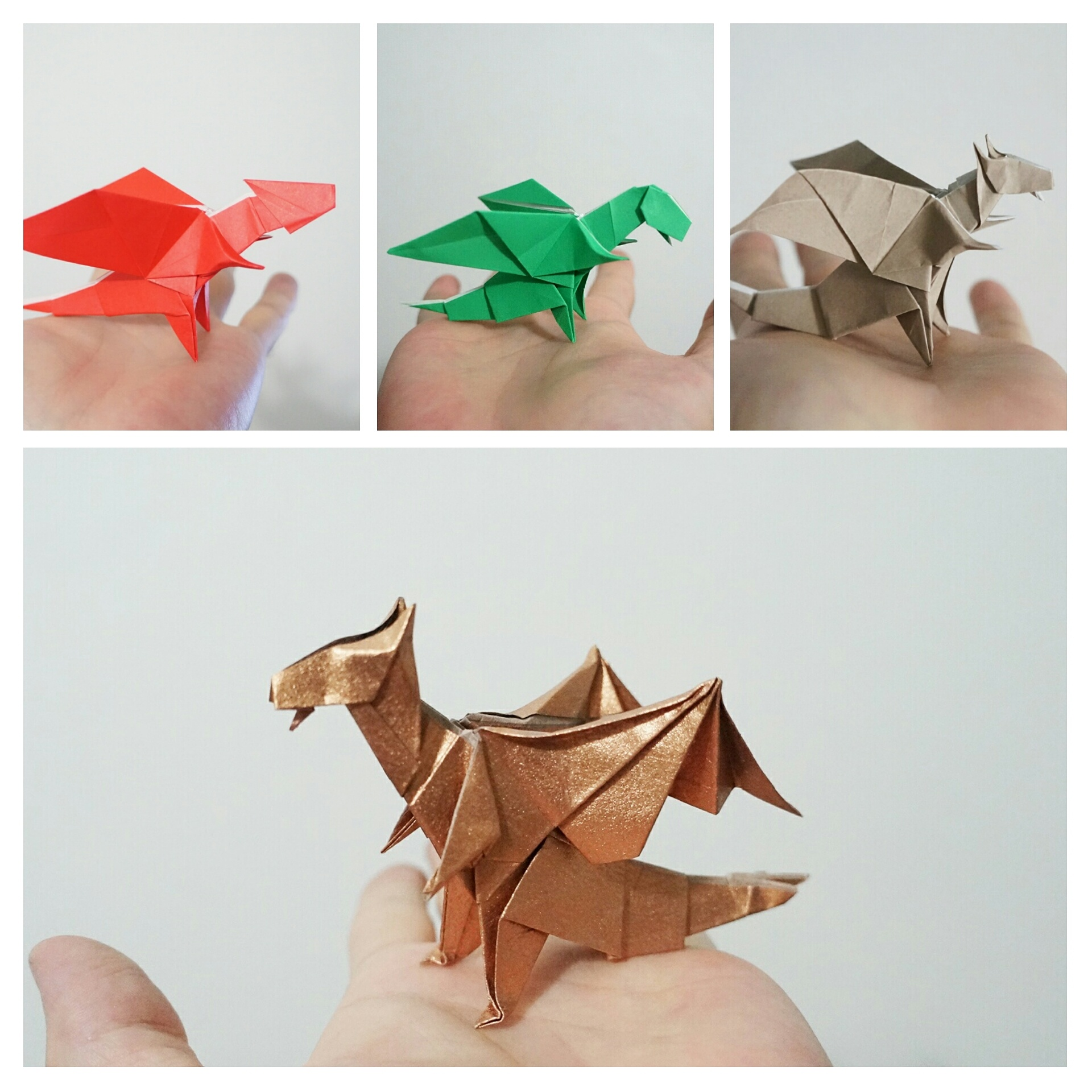 How make origami 3-Heads Dragon | How To Make Origami Dragon | 1920x1920
