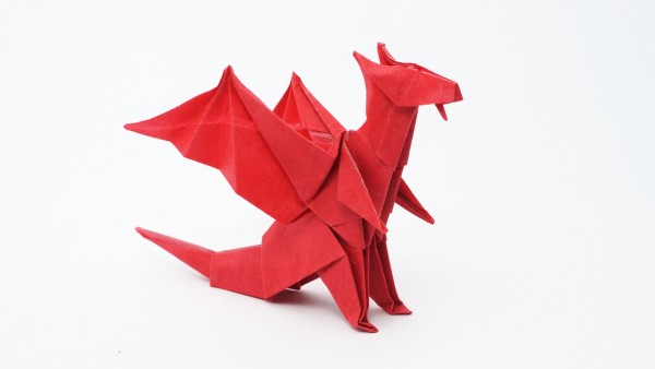 Origami Dragon Designed by Jo Nakashima