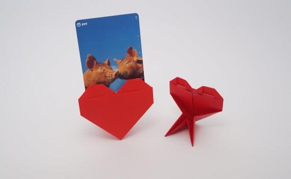 Origami Heart Stand by Jo Nakashima