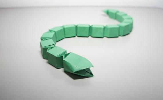 Origami Snake by Jo Nakashima