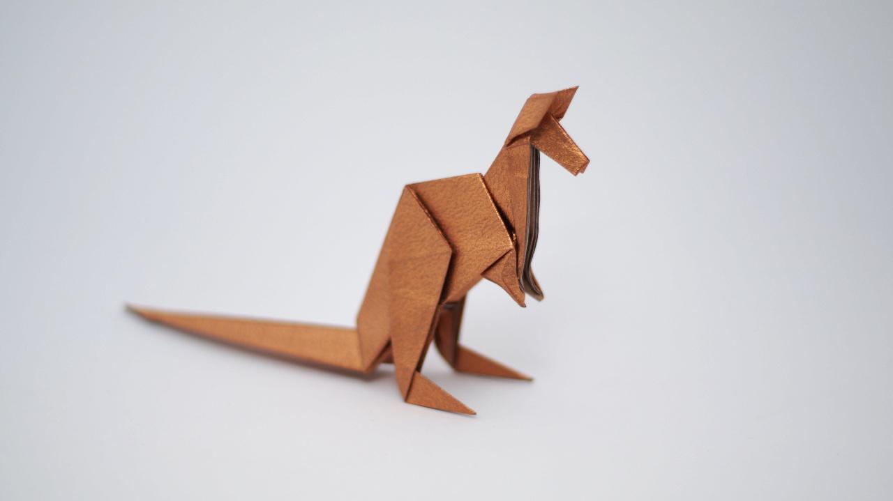 Origami kangaroo diagrams and video jo nakashima origami kangaroo by jo nakashima jeuxipadfo Images