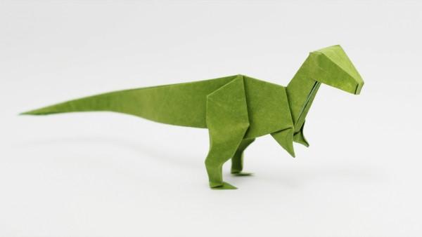 Origami Velociraptor by Jo Nakashima
