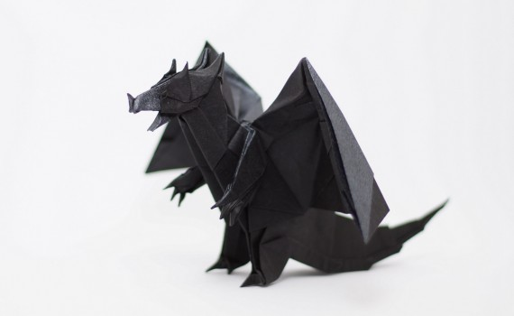 Origami Devil Dragon by Jo Nakashima