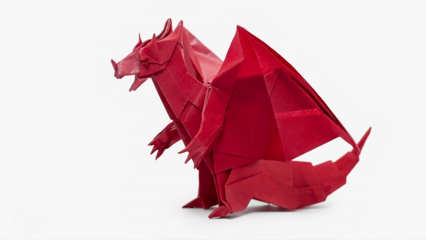 Origami Devil Dragon - designed by Jo Nakashima