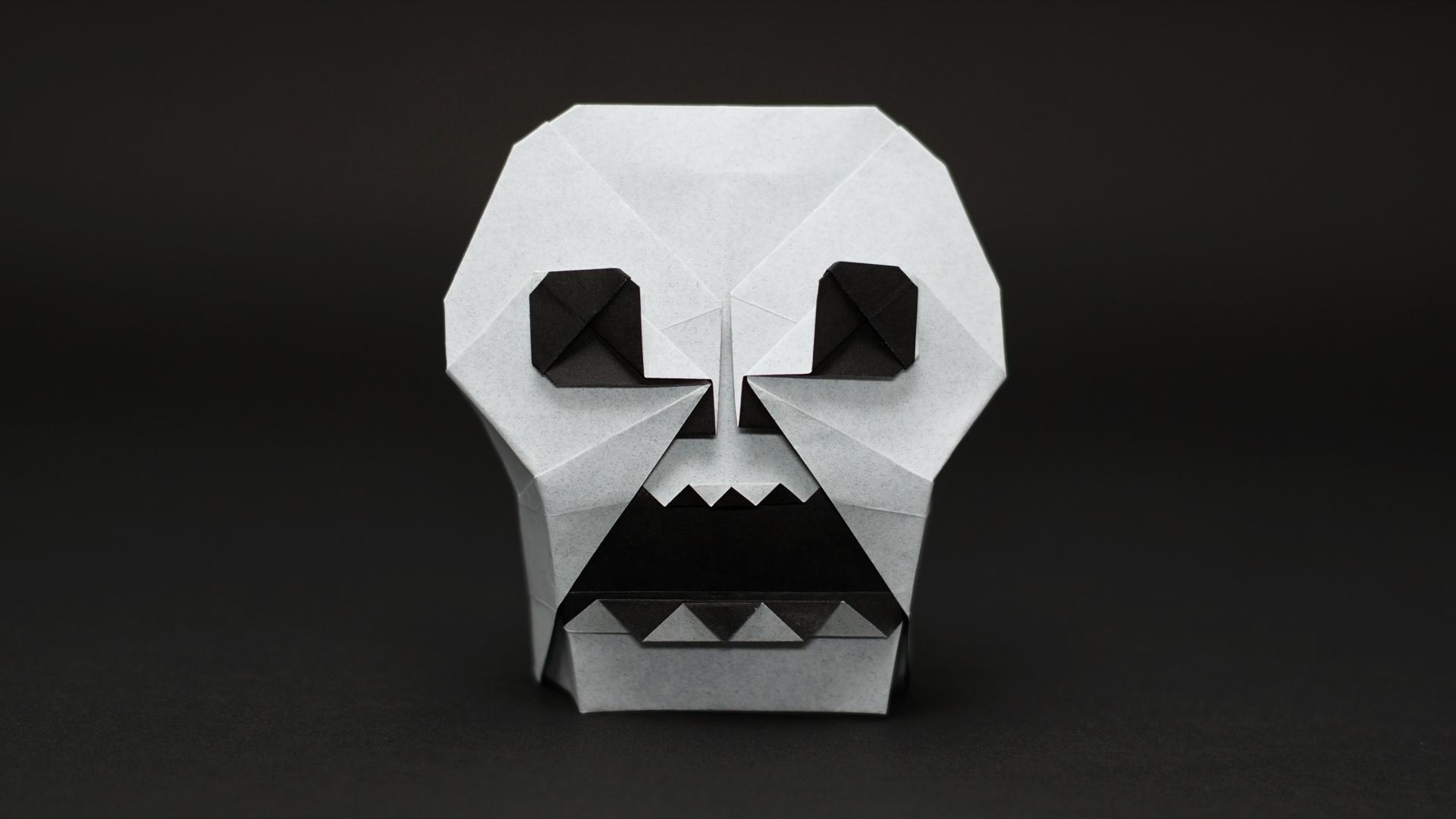 Origami Skull by Jo Nakashima