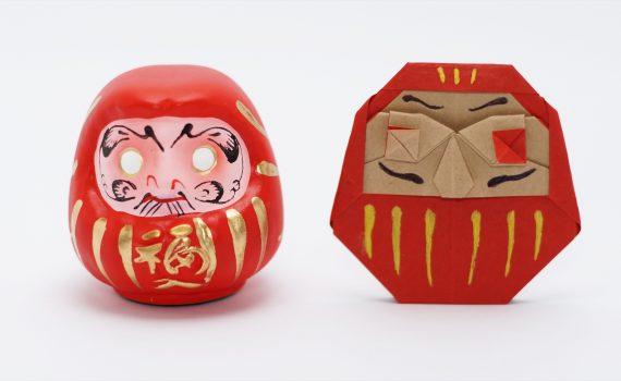 Origami Daruma designed by Jo Nakashima