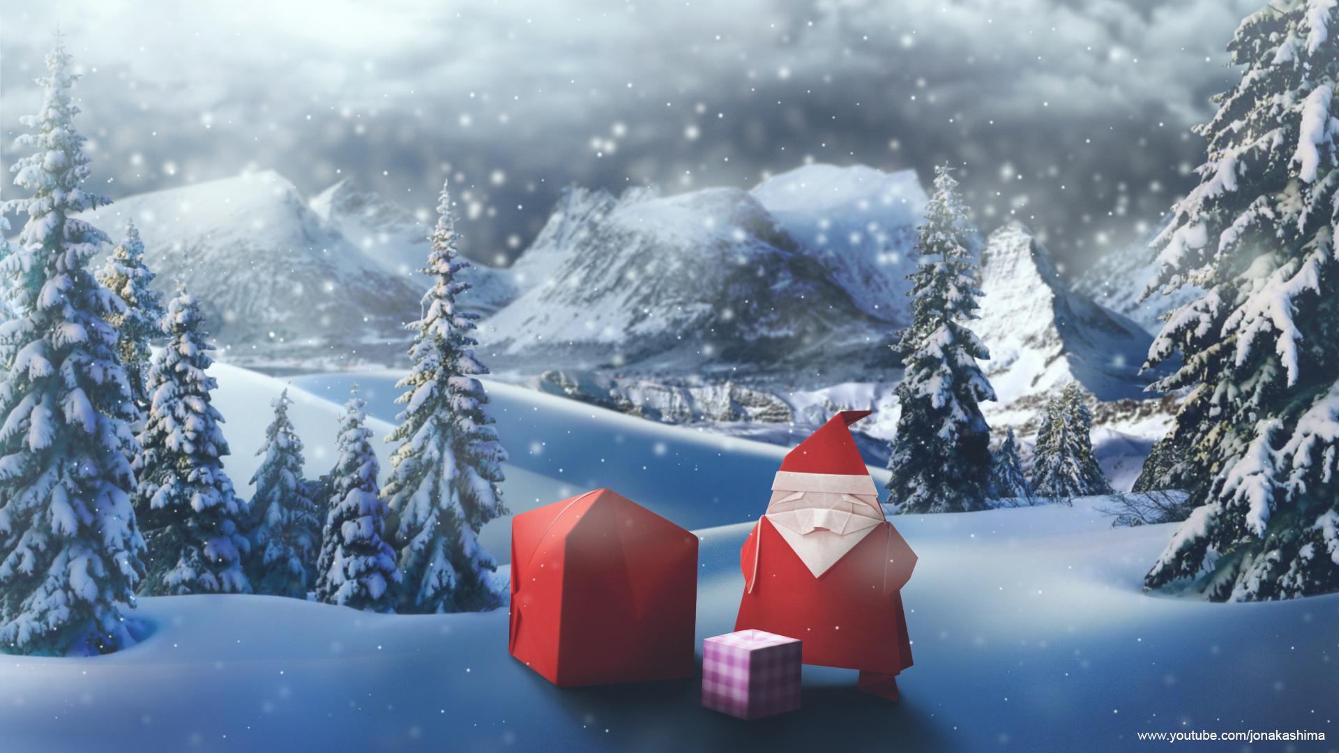origami santa claus wallpaper jo nakashima
