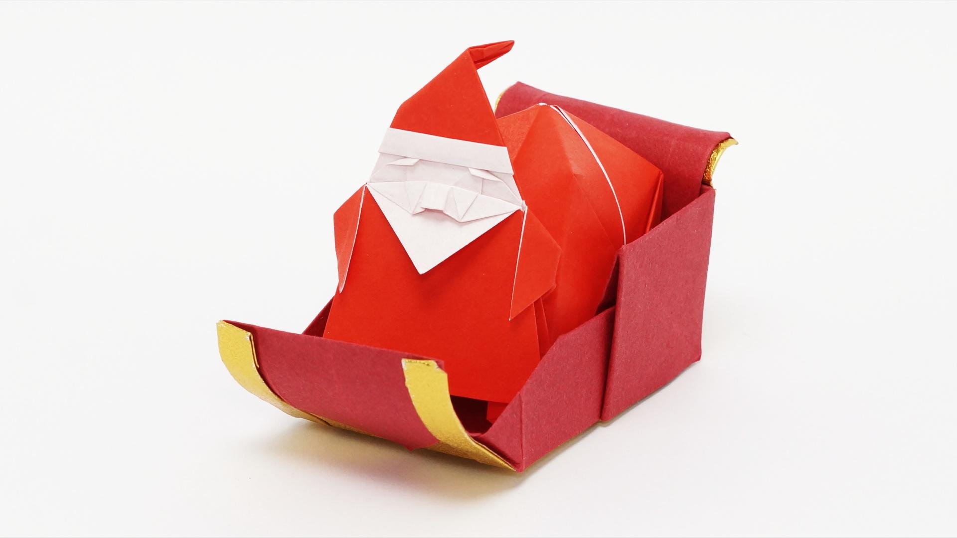 Origami Santa S Sleigh Jo Nakashima