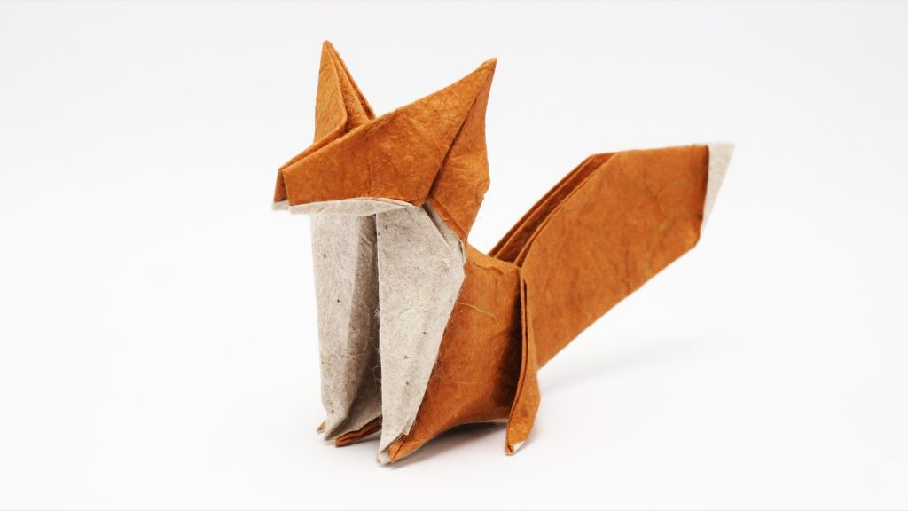Origami Fox - Origami for Kids - Easy Peasy and Fun | 576x1024