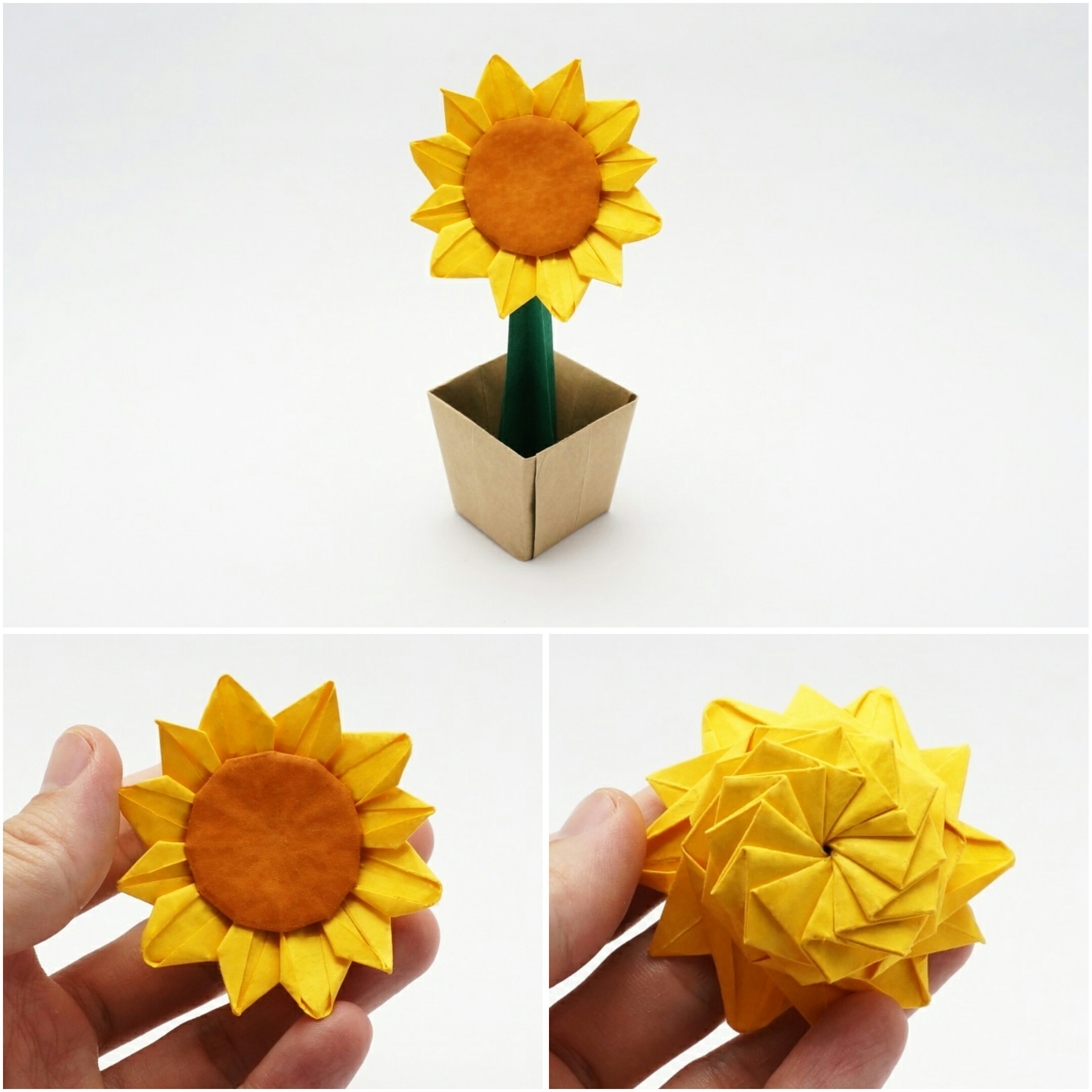 Origami sunflower jo nakashima origami sunflower designed by jo nakashima 022017 difficulty level high intermediate diagrams not available suggested paper sizes ccuart Images