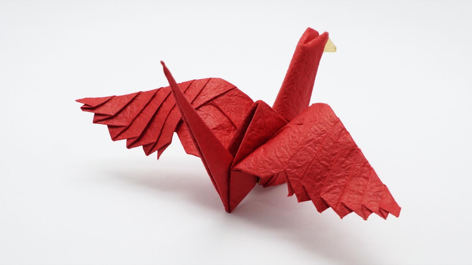 Origami feathered crane jo nakashima comments jeuxipadfo Gallery