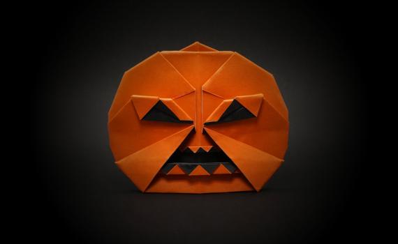Origami Jack-O'-Lantern by Jo Nakashima