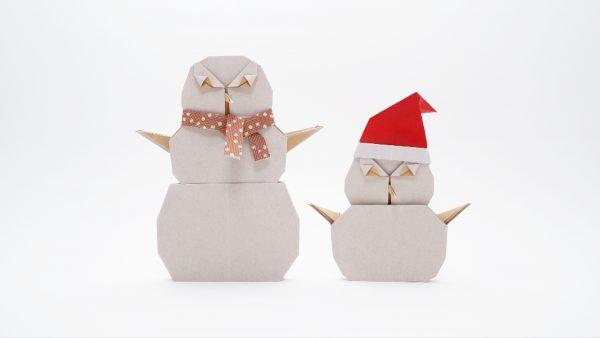 Origami Snowman by Jo Nakashima
