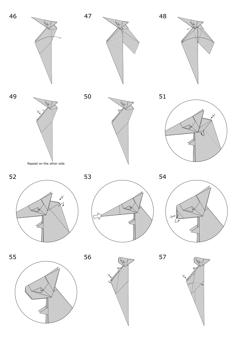 Easy Origami Animals - page 4 of 6 (Squirrel - 2 of 2) | Origami ... | 1126x797