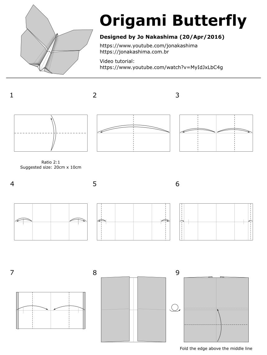 Paper Metamorphosis, Beautiful Looking Origami Butterflies   1140x860